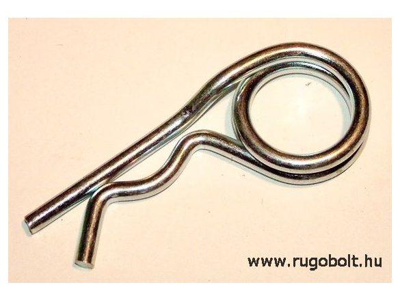 Biztosítószeg (dupla fejű) - átmérő: 3 mm, hossz: 85 mm, horganyzott