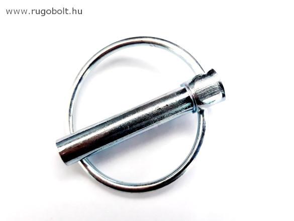 Gyűrűs biztosítószeg - átmérő: 8 mm - horganyzott