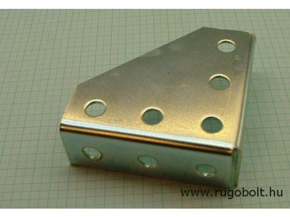 Univerzális sarok merevítő szerelőháromszög 90x90x30 mm - horganyzott