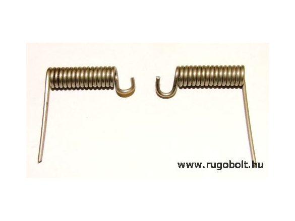 Feszítrugó pár WHIRLPOOL mosógépdob ajtózsanérhoz - 1,2x5,8x30 mm - rozsdamentes (inox)