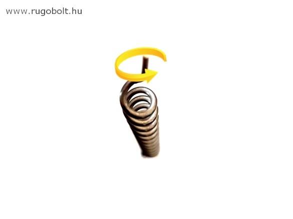 Cigarettatöltő feszítőrugó - 1,2x6,5x130 mm - (balos) - rozsdamentes (inox)