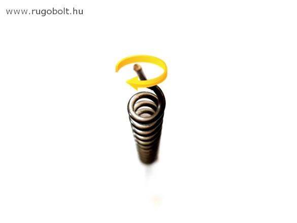 Cigarettatöltő feszítőrugó - 1,2x6,5x130 mm - (jobbos) - rozsdamentes (inox)
