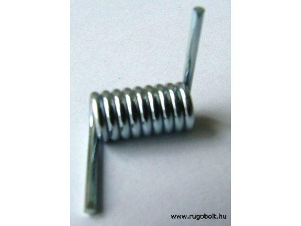 Kapumozgató zár rugó - 1,5x7,0x15,5 mm - horganyzott