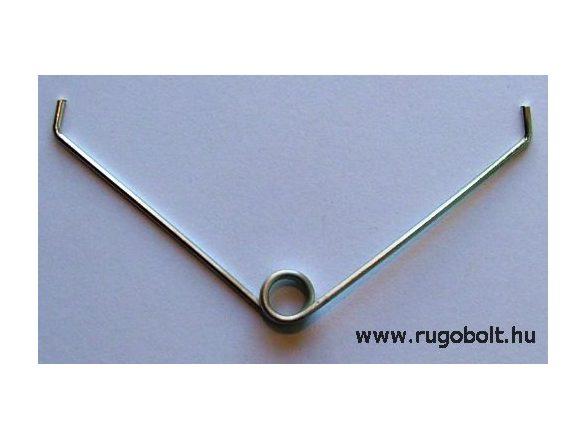 Feszítőrugó szegélynyíró ollóhoz - 1,5x10x6,0 mm - horganyzott
