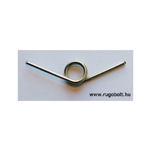 Szegélynyíró olló rugó - 1,8x12x6,0 mm - horganyzott