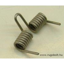 Nyomáskapcsoló rugó - 2,5x13x45 mm - rozsdamentes (inox)