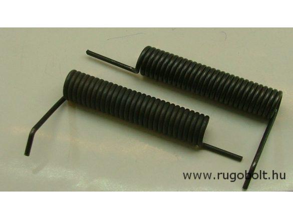 Feszítőrugó - 2,5x16x72 mm - (jobbos) - natúr