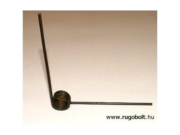 Hernyózó olló rugó - 2,5x18x12,5 mm - natúr