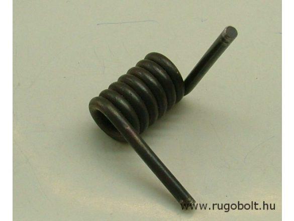 Láb pumpa rugó - 4,0x17,5x32 mm - natúr Rugóállandó: 69,3 Nmm/° max szögelfordolás:25° 1.731 Nmm.