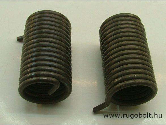 Feszítőrugó - 4,0x37x60 mm - (balos) - natúr