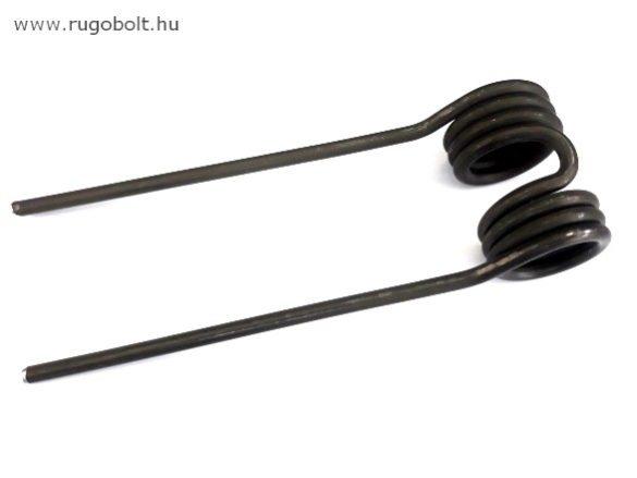Feszítőrugó paprikaszedő géphez - 5x35x57 mm - natúr - (dupla)