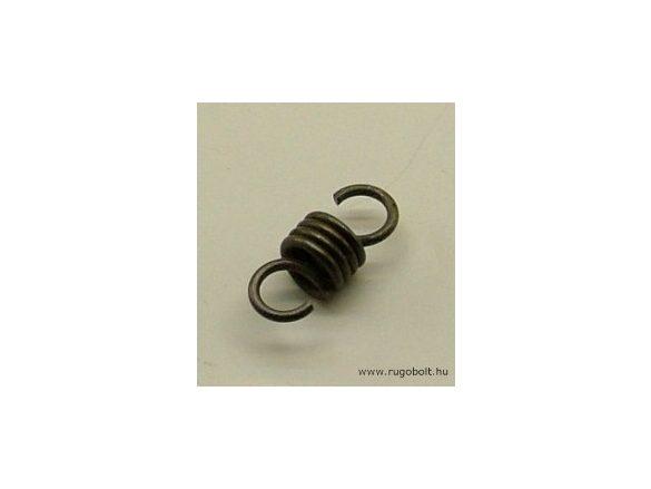 Húzórugó - 1,0x6,5x5,0 mm - A.14,5 - natúr - R: 12,24 N/mm - max.elmozdulás: 4 mm