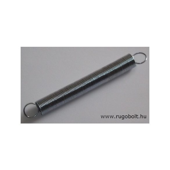 Húzórugó - 1,0x12x85 mm - A.105 - horganyzott - R: 0,09 N/mm - max.elmozdulás: 310 mm