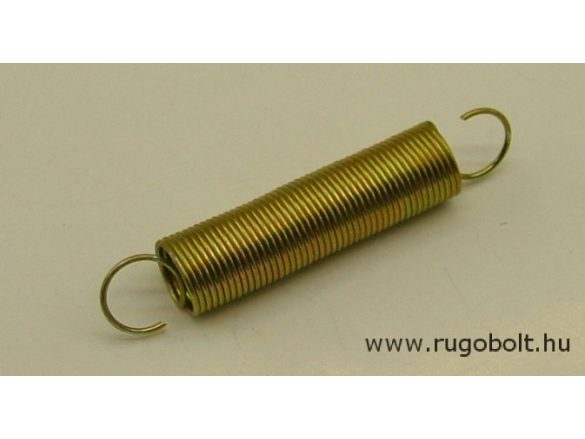 Húzórugó - 1,0x13x50 mm - A.70 - horganyzott - R: 0,118 N/mm - max.elmozdulás: 222 mm, ahol az erő: 26,3 N