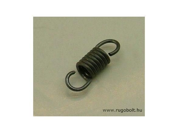 Húzórugó - 1,2x7,0x9,5 mm - A.19,5 - natúr - R:13,5 N/mm - max.elmozdulás: 5,5 mm, ahol az erő: 77,5 N