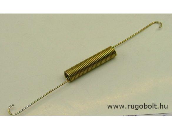 Húzórugó - 1,2x9,0x45 mm - A.145 - horganyzott - R: 1,2 N/mm - max.elmozdulás: 51 mm, ahol az erő: 62 N