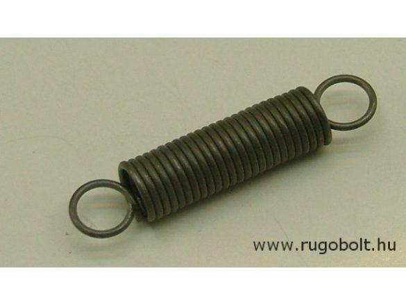 Húzórugó - 1,2x9,5x32 mm - A.47 - natúr - R: 1,42 N/mm - max.elmozdulás: 41 mm, ahol az erő: 58 N