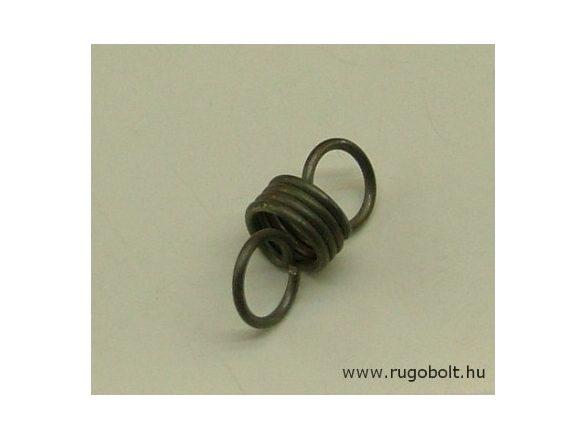 Húzórugó - 1,2x10x6,0 mm -A.21 - natúr - R: 6,2 N/mm - max.elmozdulás: 9 mm, ahol az erő: 56 N