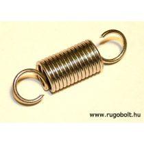 Ajtókitámasztó rugó - 1,2x10x18 mm - A.35 - horganyzott - R: 2,067 N/mm - max.elmozdulás: 27 mm