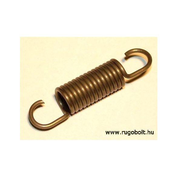 Húzórugó - 1,5x10x24 mm - A.44 -natúr - R: 5,25 N/mm - max.elmozdulás: 19 mm