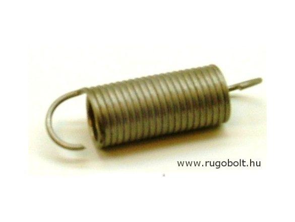 Húzórugó - 1,5x15x35 mm - A.52 - rozsdamentes (inox) - R: 0,911N/mm - max.elmozdulás: 77 mm, ahol az erő: 70 N