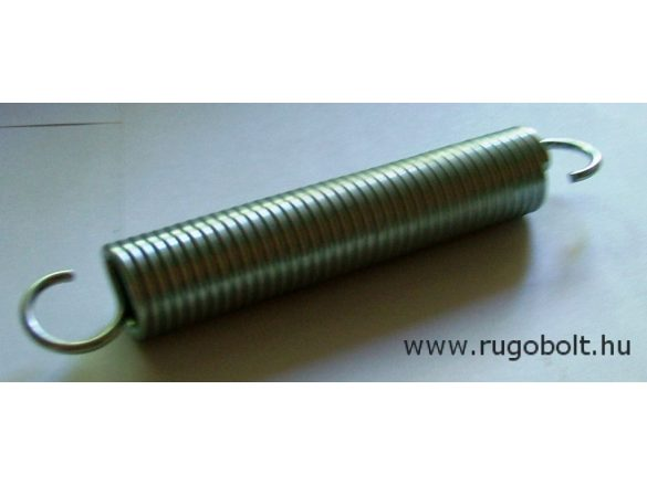 Húzórugó - 3,0x24x120 mm - A.160 - horganyzott - R: 2,228 N/mm - max.elmozdulás: 138 mm, ahol az erő:308 N