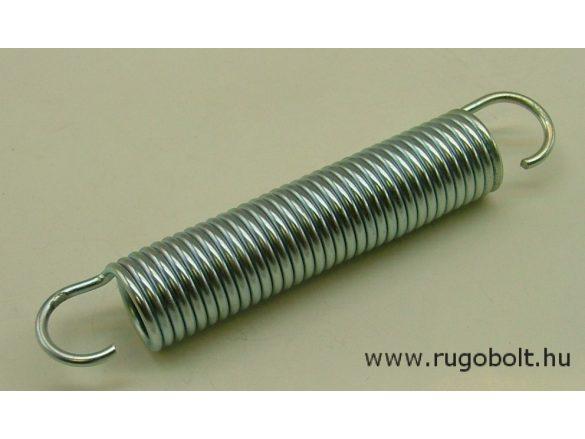 Húzórugó - 3,0x24x150 mm - A.185 - horganyzott - R: 1,78 N/mm - max.elmozdulás: 172 mm, ahol az erő: 308 N