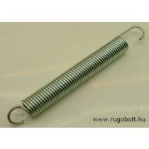 Húzórugó - 3,0x24x160 mm - A.215 - horganyzott - R: 1,68 N/mm - max.elmozdulás: 183 mm, ahol az erő: 308 N