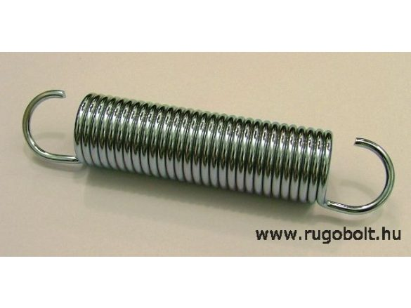 Húzórugó - 3,0x26x90 mm - A.130 - horganyzott - R:2,42 N/mm - max.elmozdulás: 118 mm, ahol az erő: 285 N