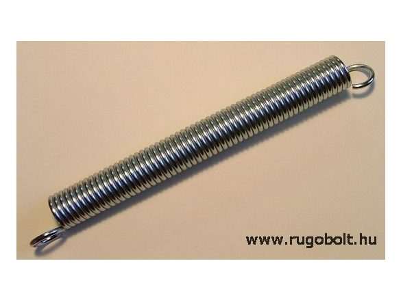 Bútorrugó - 3,5x23x240 mm - A.280 - horganyzott - R: 3,03 N/mm - max.elmozdulás: 160 mm, ahol az erő: 486 mm