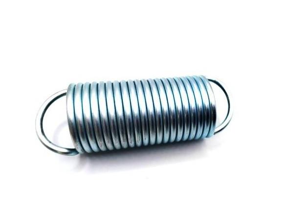 Húzórugó - 3,5x37x75 mm - A.100 - horganyzott - R: 1,936 N/mm - max.elmozdulás: 160 mm, ahol az erő: 312 N