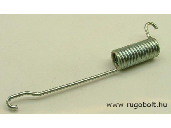 Fékrugó - 4,0x26x57 mm - A.200 mm - horganyzott - R: 17,5 N/mm - max.elmozdulás: 35 mm, ahol az erő: 624 N