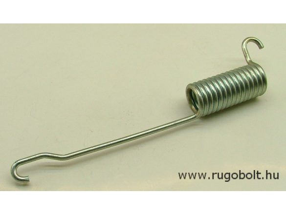 Fék húzórugó - 4,0x26x57 mm - A.200 mm - horganyzott - R: 17,5 N/mm - max.elmozdulás: 35 mm, ahol az erő: 624 N