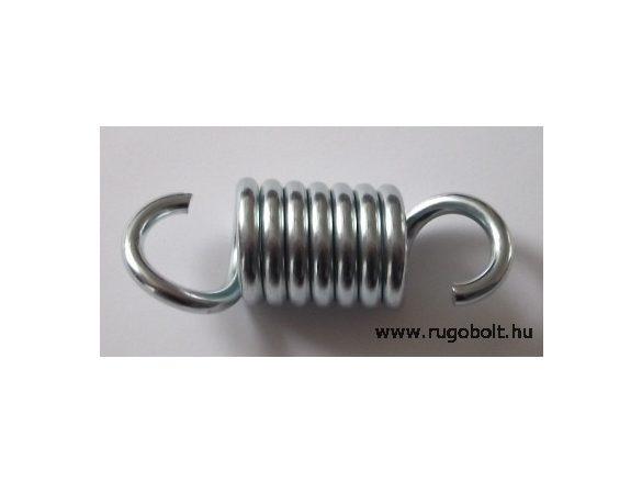 Hintaágy húzórugó (bútorrugó) - 6,0x34x49 mm - A.92. - (fülek 180 fokban) - horganyzott