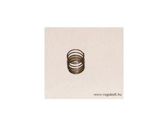 Nyomórugó - 0,3x5,5x6 mm - menetszám: 1+4+1 - natúr