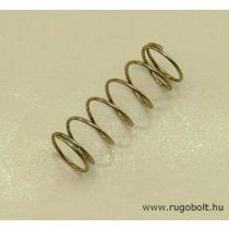Nyomórugó - 0,4x5,9x16 mm - menetszám: 1+5+1 - rozsdamentes (inox)