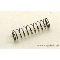 Nyomórugó - 0,4x7,3x30 mm - menetszám: 1+12+1 - rozsdamentes (inox)