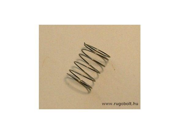 Nyomórugó - 0,4x10,5x13 mm - menetszám: 1+4,5+1 - natúr