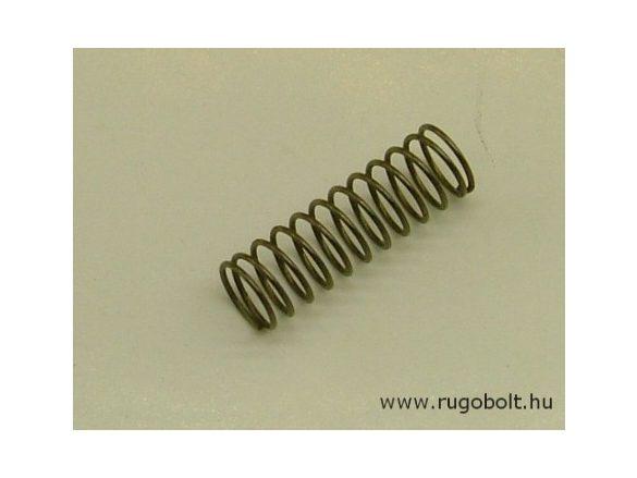 Nyomórugó - 0,6x7,5x23 mm - menetszám: 1+10+1 - rozsdamentes (inox)