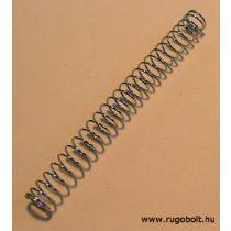 Meggymagozó rugó - 0,6x8,0x80 mm - menetszám:1+26+1 - rozsdamentes (inox)