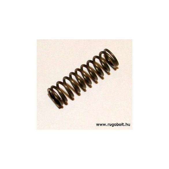 Zárrugó - 0,8x6,0x20 mm - menetszám: 1+9+1 - natúr