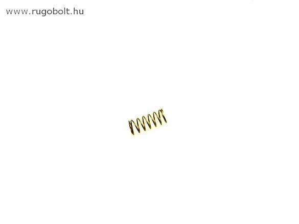 Nyomórugó - 0,8x10x24 mm - menetszám: 1+5,5+1 - rozsdamentes (inox)