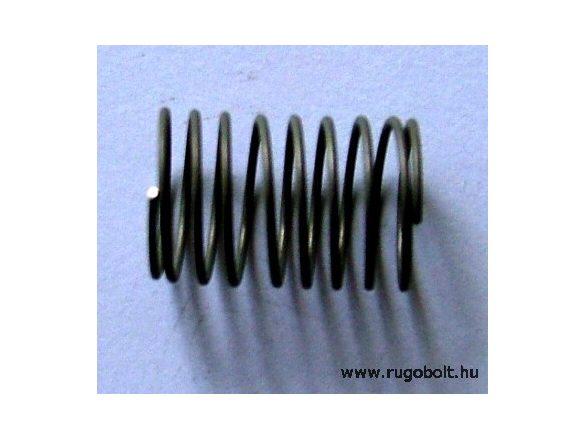 Permetező rugó - 0,8x14x20 mm - menetszám: 1+7+1 - rozsdamentes (inox)