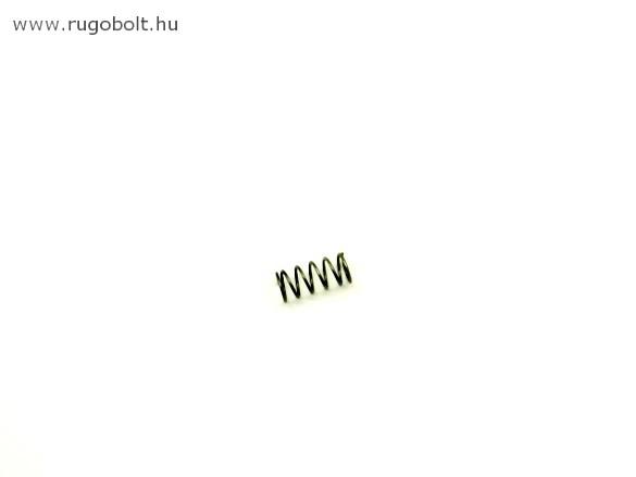 Nyomórugó - 0,9x12x45 mm - menetszám: 1+14+1- rozsdamentes (inox)