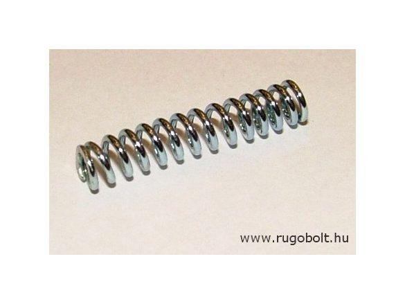 Nyomórugó - 1,0x6x30mm - menetszám: 1+12+1 - horganyzott