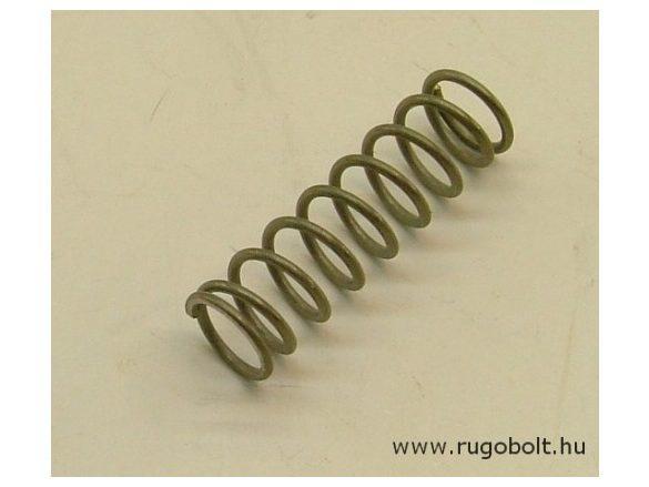 Nyomórugó - 1,0x9,0x31 mm - menetszám: 1+7+1 - rozsdamentes (inox)