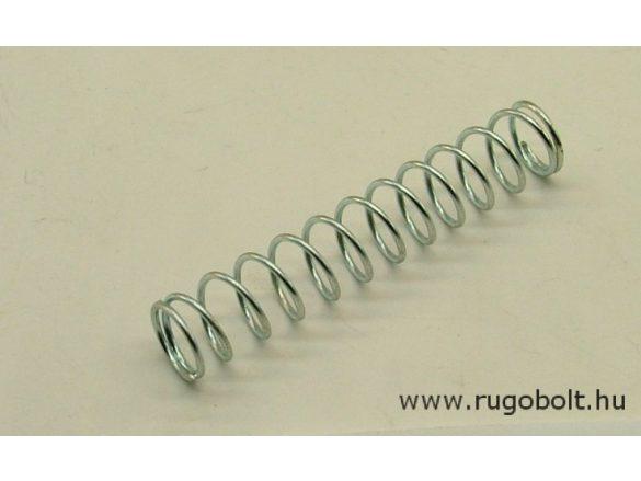 Nyomórugó - 1,0x11x60 mm - menetszám: 1+11+1 - horganyzott