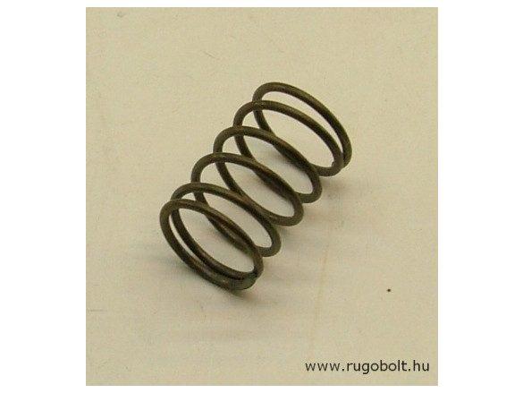 Nyomórugó - 1,0x12x18 mm - menetszám: 1+4+1 - natúr