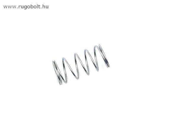 Nyomórugó - 1,0x15x30 mm - menetszám: 1+5+1 - horganyzott