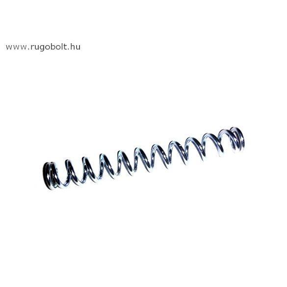 Zárrugó - 1,2x7,5x55 mm - menetszám: 1+11+1 - natúr